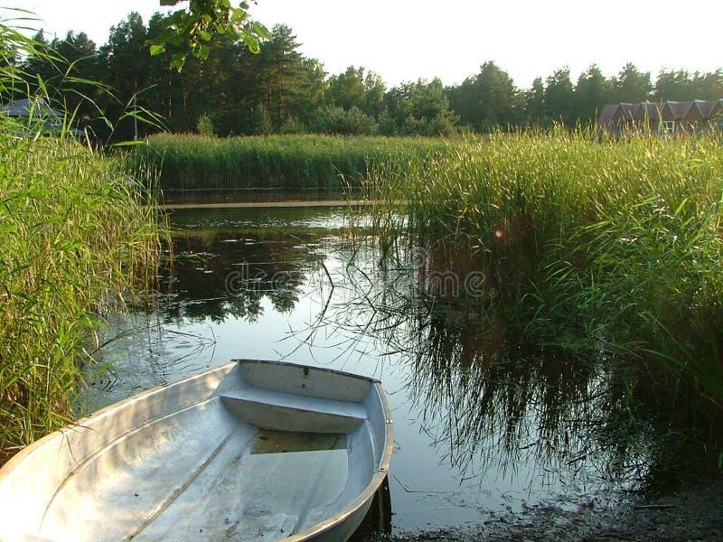 Download łódka brzegu zdjęcie stock. Obraz złożonej z vessel, roślinność - 139212