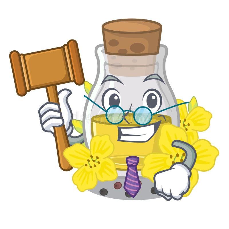 Óleo de semente do canola do juiz em uns desenhos animados ilustração stock