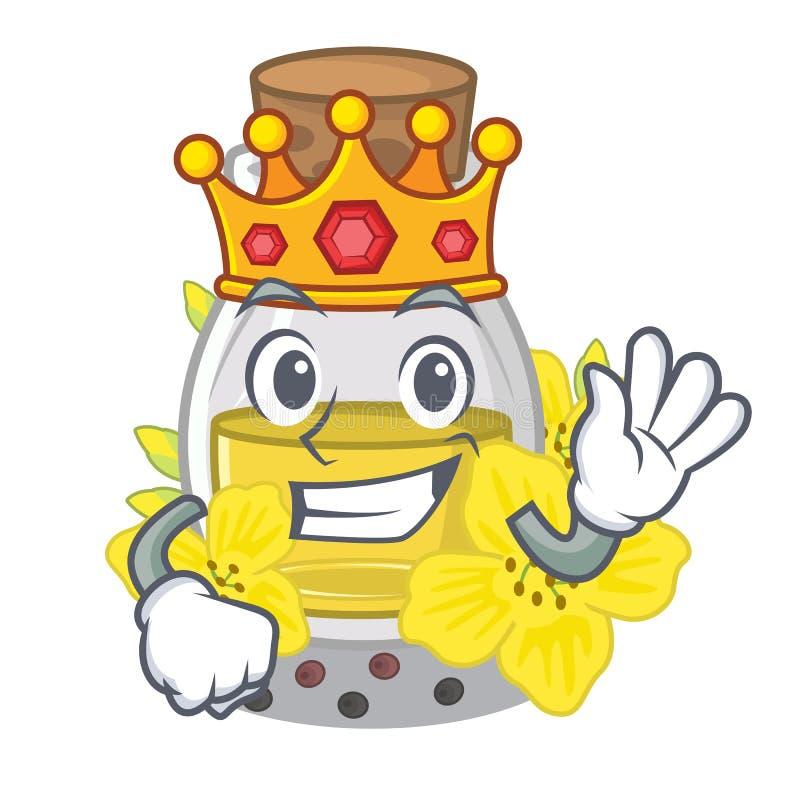 Óleo de semente do canola do rei em uns desenhos animados ilustração stock