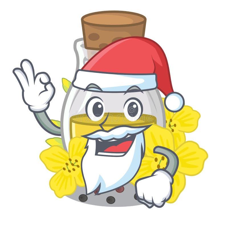 Óleo de semente do canola de Santa em uns desenhos animados ilustração stock