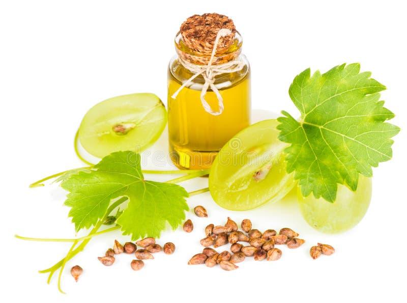 Óleo de semente orgânico da uva foto de stock royalty free