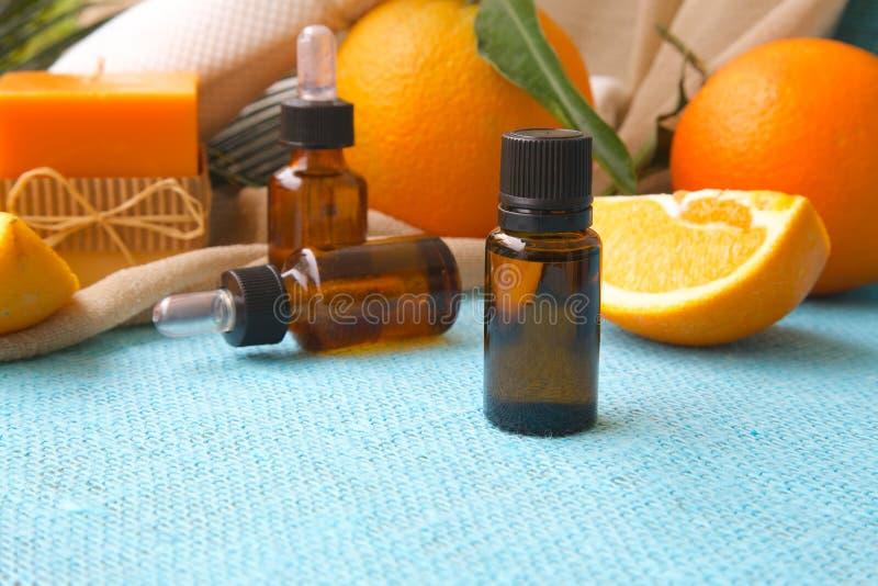 Óleo essencial de laranja doce foto de stock royalty free