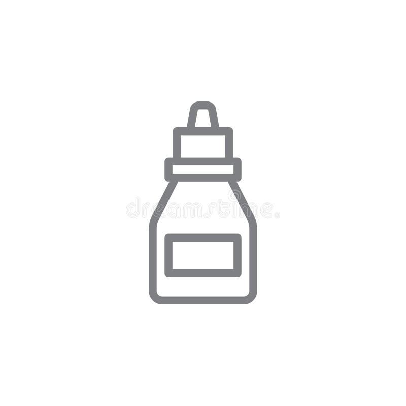Óleo para o ícone eletrônico do esboço do cigarro Elementos do ?cone de fumo da ilustra??o das atividades Os sinais e os s?mbolos ilustração stock