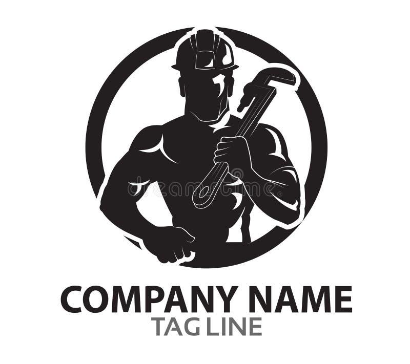 Óleo Rig Company Logo ilustração do vetor