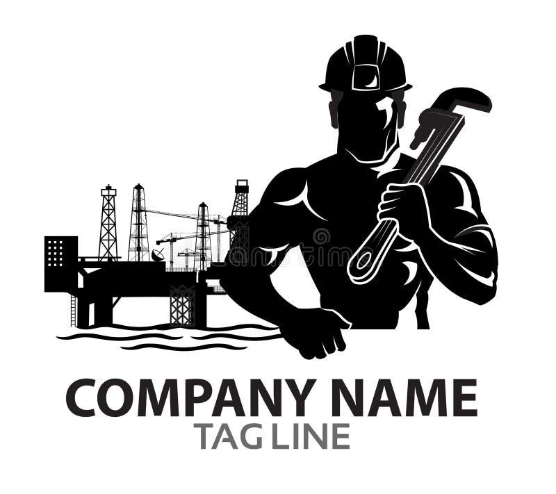 Óleo Rig Company Logo ilustração royalty free