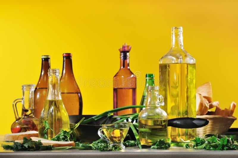 Óleo vegetal fotografia de stock
