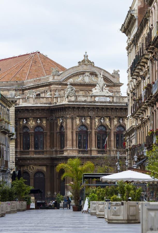 Ópera Bellini en Catania fotografía de archivo libre de regalías