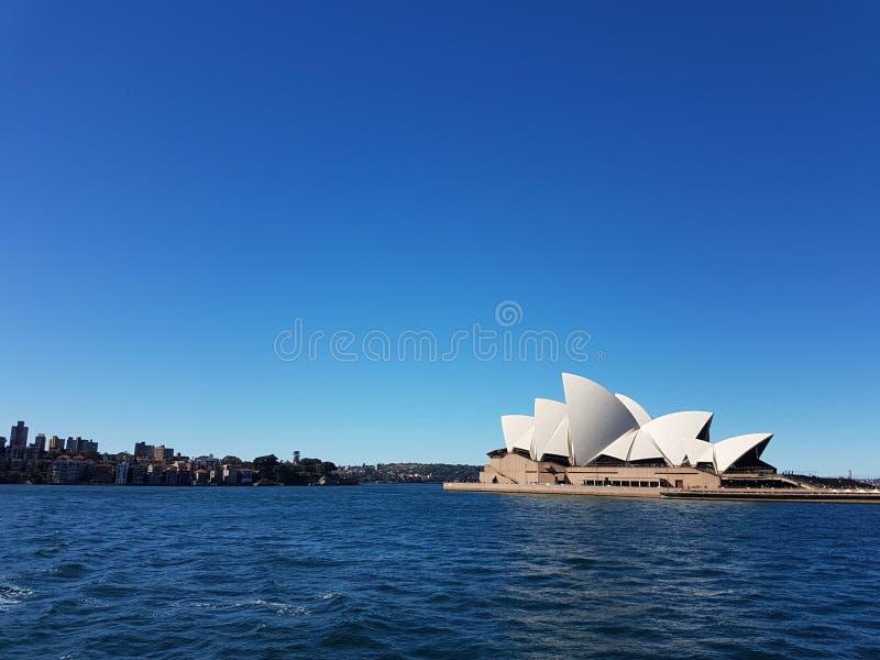 Ópera de la opinión del cielo de Australia Sydney imagen de archivo