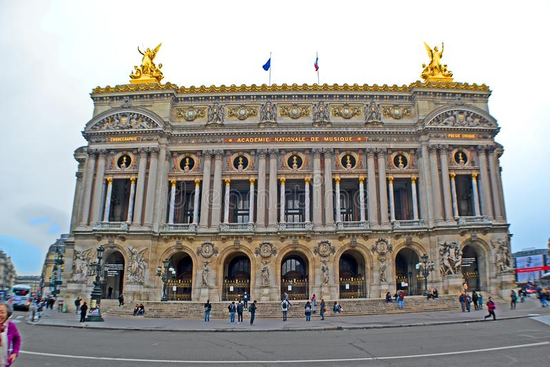 Ópera de nacional París de la ópera de París aka aka el Palais Garnier en París, Francia, imagen de archivo libre de regalías