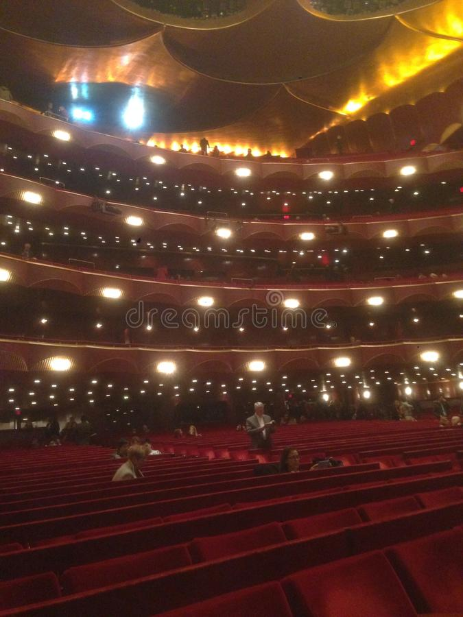 Ópera de NYC imagen de archivo