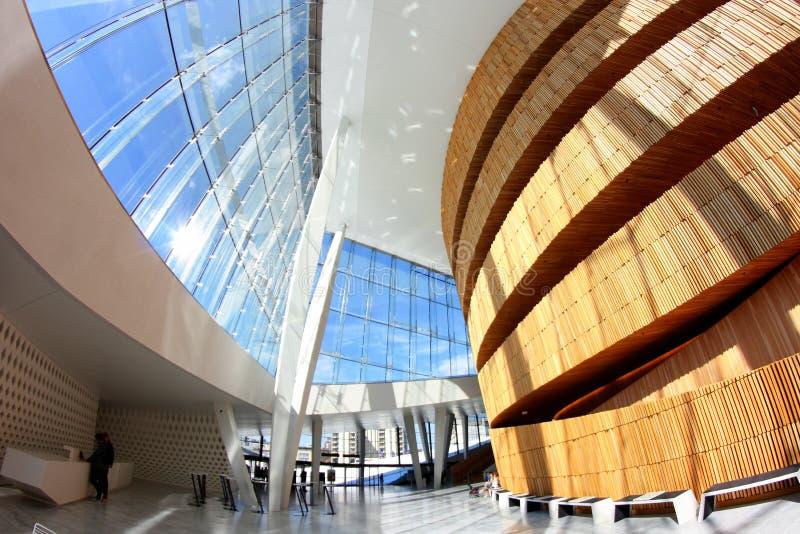 Ópera de Oslo - diseño interior fotos de archivo libres de regalías