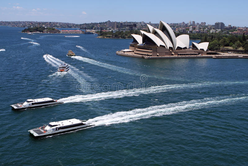 Ópera de Sydney fotografia de stock royalty free