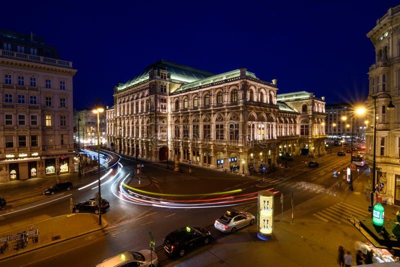 Ópera del estado de Viena foto de archivo