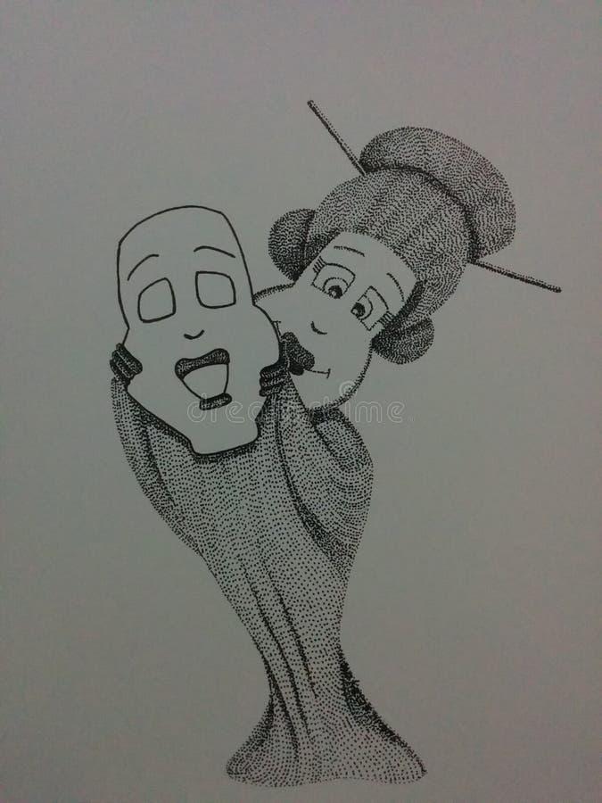Ópera del geisha imagen de archivo