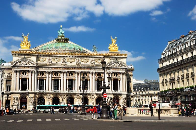 Ópera Garnier en París fotografía de archivo