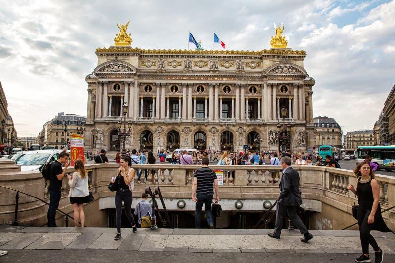 Ópera Garnier París foto de archivo