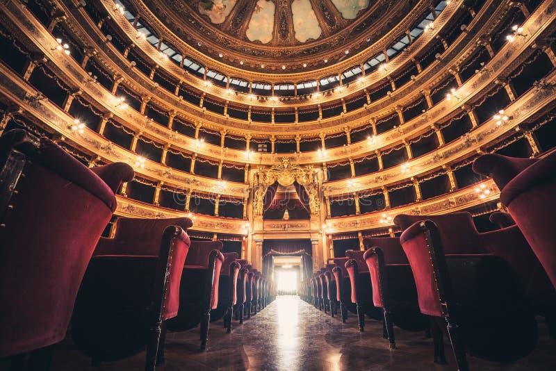 Ópera House Teatro Massimo Vittorio Emanuele de Teatro foto de archivo