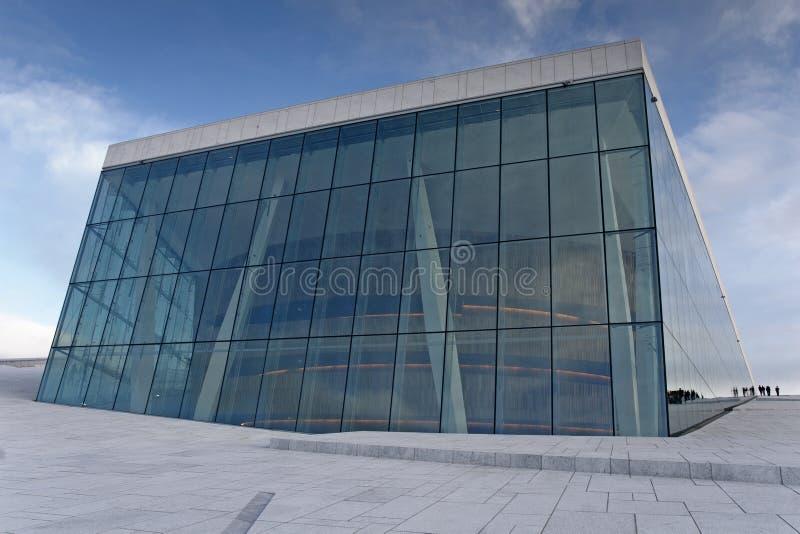 Ópera nacional em Oslo fotos de stock royalty free
