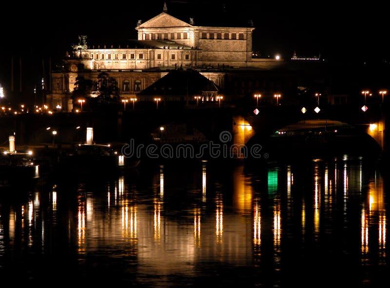Ópera Por Noche Fotografía de archivo libre de regalías