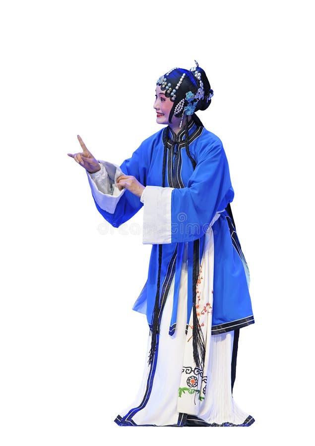 Ópera tradicional consideravelmente chinesa imagem de stock royalty free
