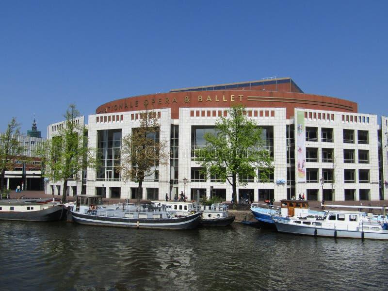 Ópera y ballet nacionales, Amsterdam foto de archivo libre de regalías