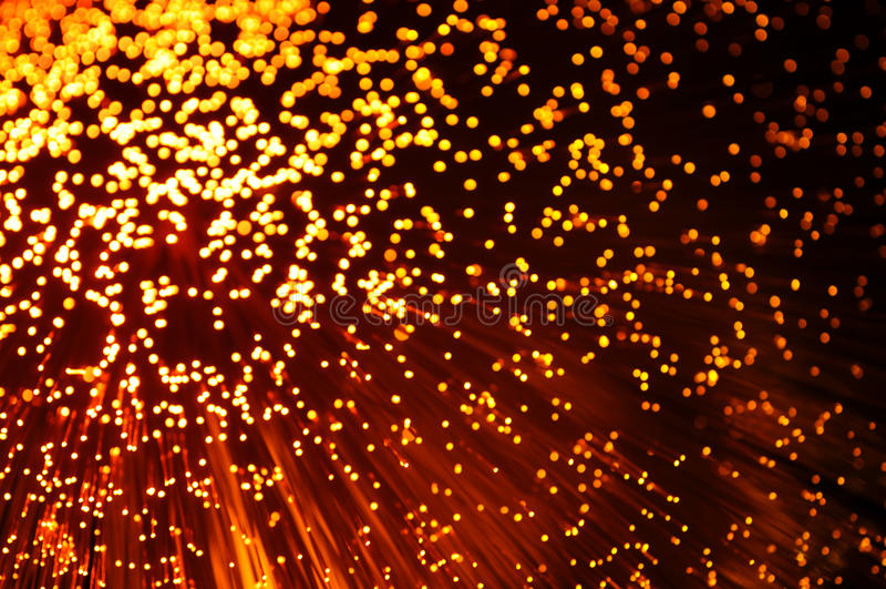Óptica de fibras foto de archivo libre de regalías