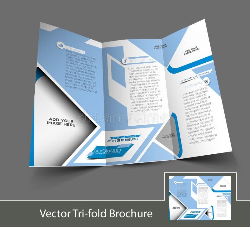 Óptico Sunglasses Store Brochure ilustración del vector
