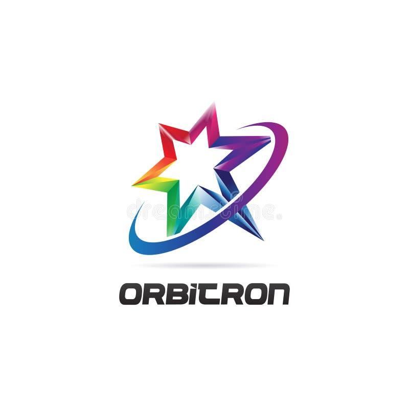 Órbita colorida vibrante brilhante Logo Symbol Icon da estrela do arco-íris ilustração royalty free