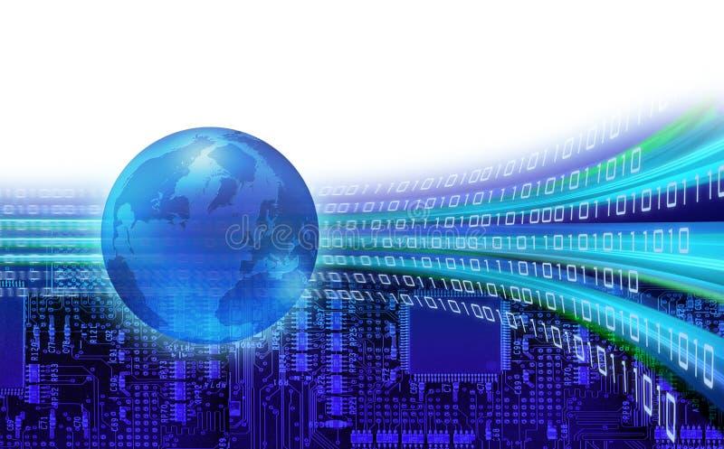 Órbitas de la información global stock de ilustración