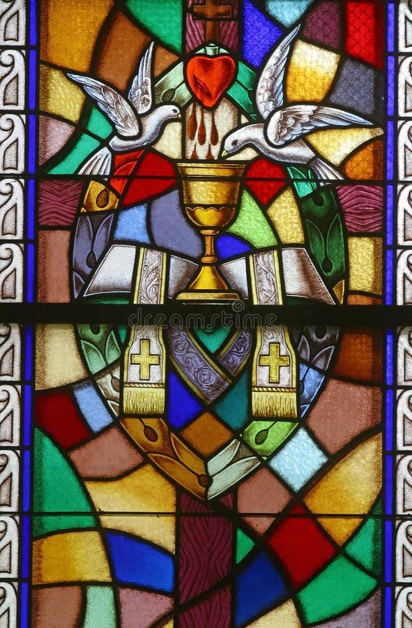 Órdenes santas, siete sacramentos imagen de archivo