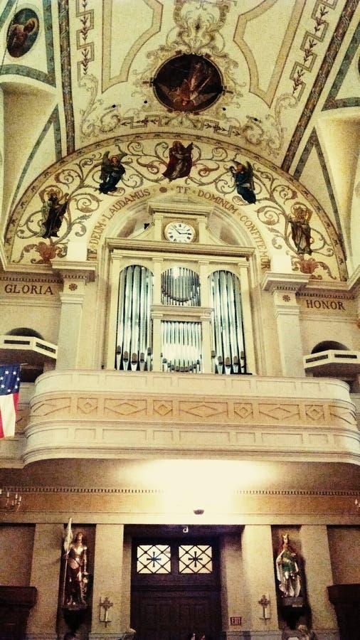 Órgão da catedral fotografia de stock royalty free
