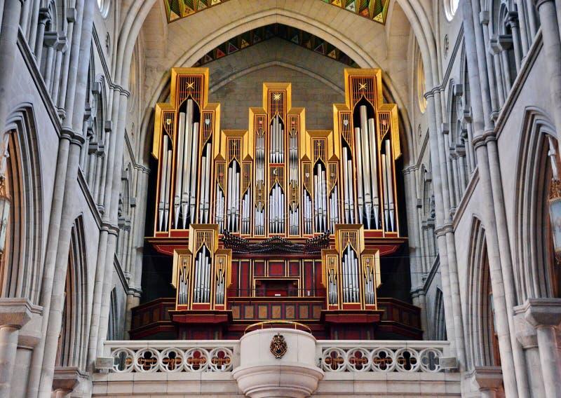 Órgão da igreja imagem de stock royalty free