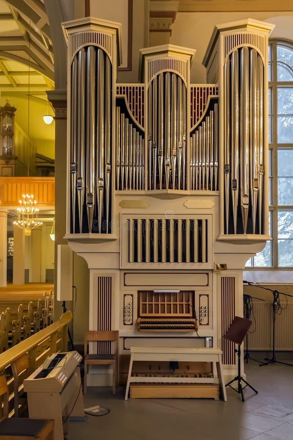 Órgão da igreja fotos de stock