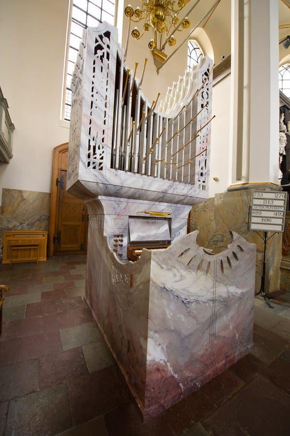 Órgão da igreja do granito fotos de stock