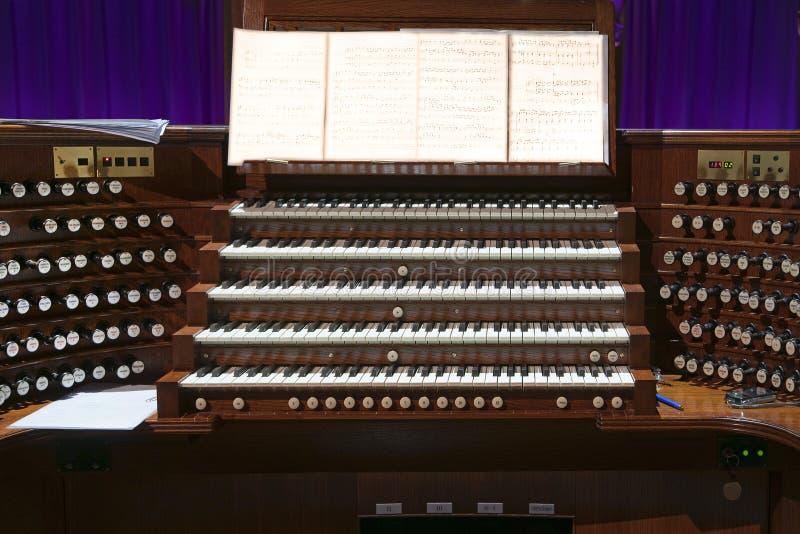 Órgão de madeira imagens de stock