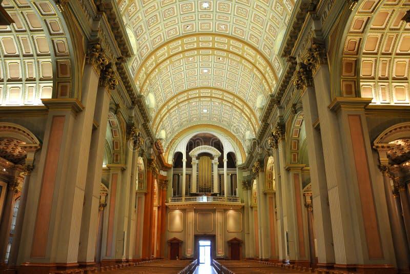 Rainha da catedral do mundo, Montreal de Mary fotos de stock
