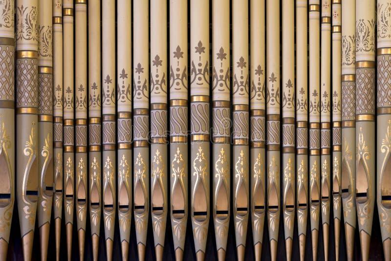 Órgão de tubulação em Zion Evangelical Lutheran Church imagem de stock royalty free