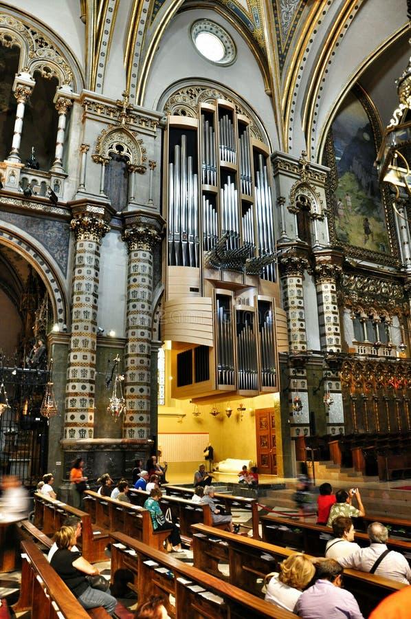 Órgão do instrumento musical no preto Madonna da catedral imagem de stock royalty free