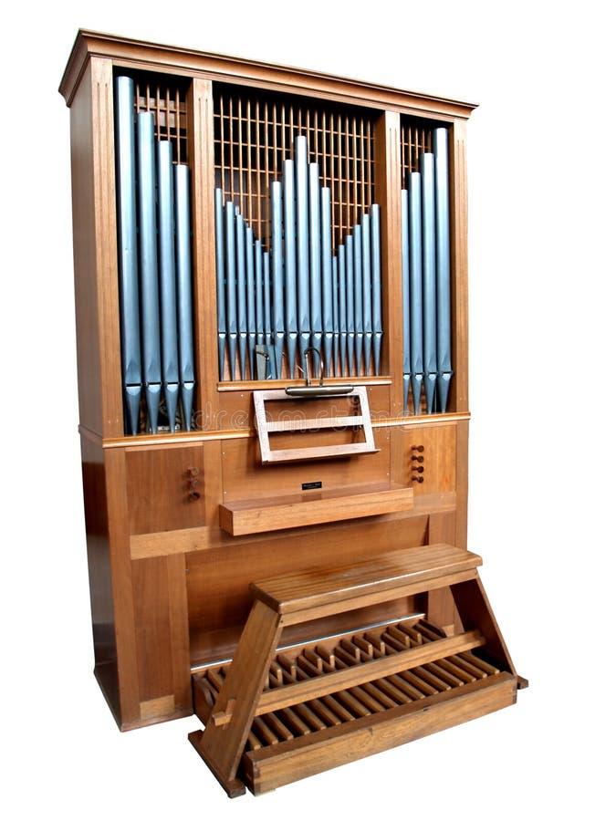Órgano aislado de la iglesia imagenes de archivo