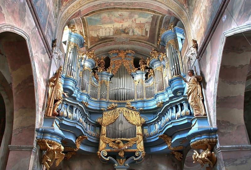 Órgano barroco fotografía de archivo