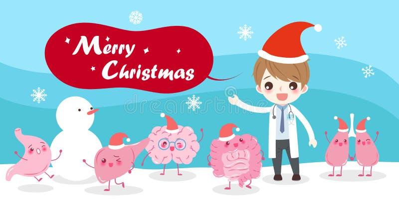 Órgano con Feliz Navidad stock de ilustración