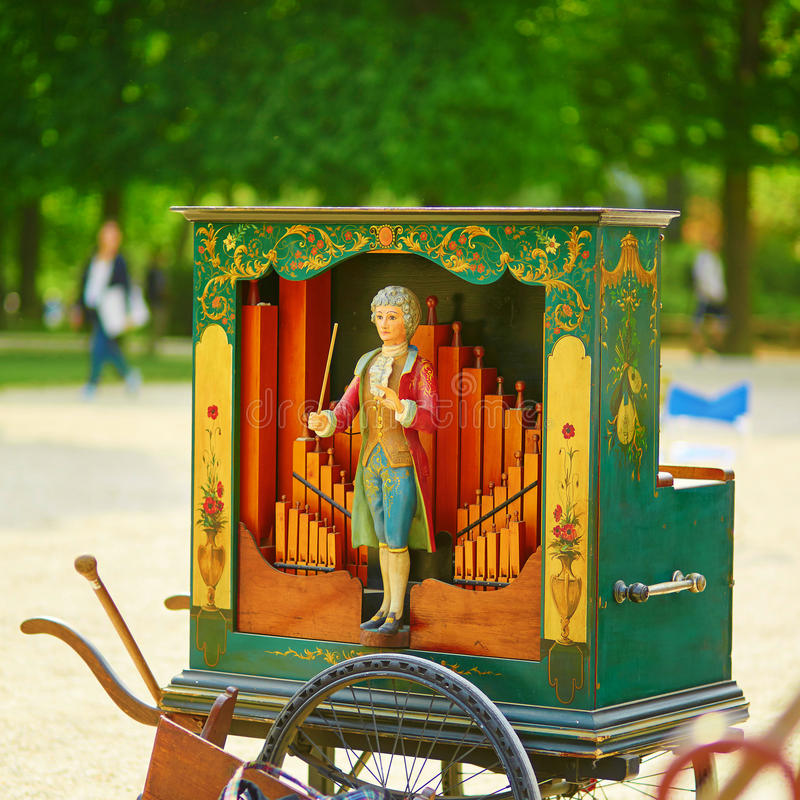 Órgano de barril del vintage imágenes de archivo libres de regalías