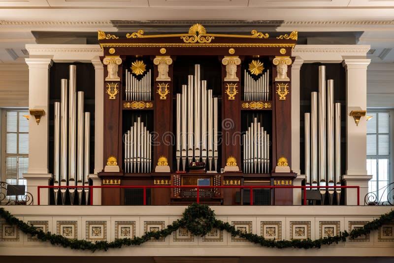 Órgano de la iglesia episcopal de San Pablo foto de archivo libre de regalías