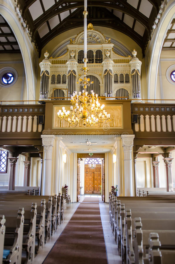Órgano en Alexander Church imagen de archivo