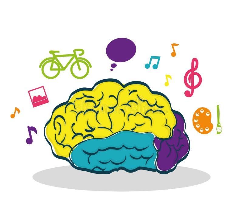 Órgano Humano Cerebro E Icono Creativo Gráfico De Vector Ilustración ...