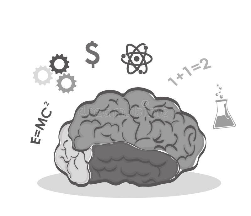 Órgano Humano Ciencia E Icono Del Cerebro Gráfico De Vector ...