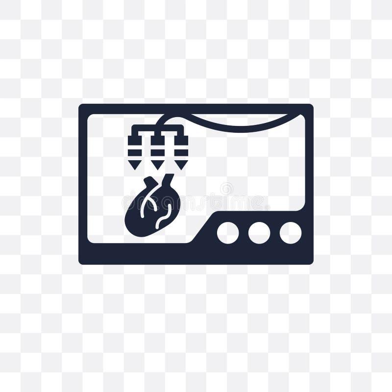 Órgano que imprime el icono transparente Órgano que imprime el diseño franco del símbolo stock de ilustración
