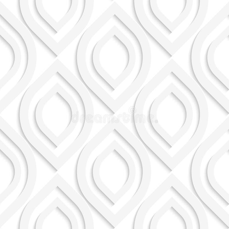 Óvalos puntiagudos verticales blancos libre illustration