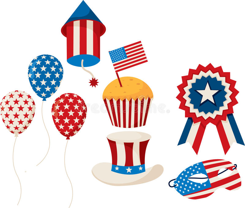 ô da celebração de julho ilustração royalty free