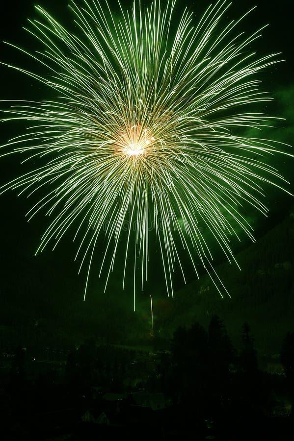 ô de fogos-de-artifício de julho imagem de stock